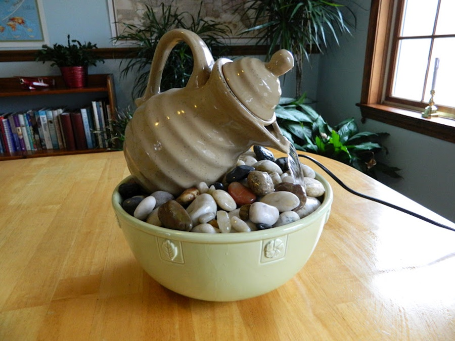 Image of: Awesome DIY Tabletop Fountain