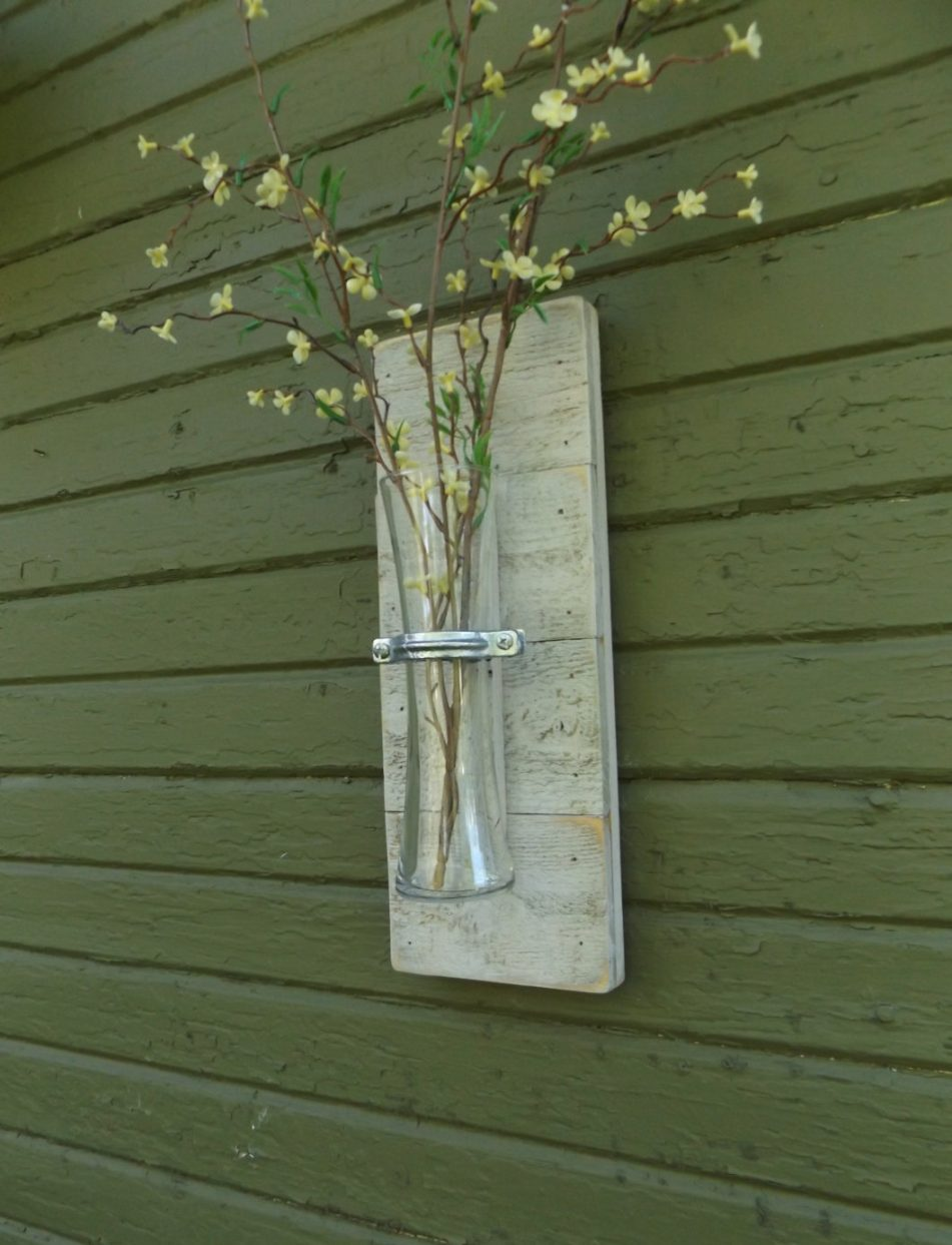 Wood Decorative Wall Sconces For Flowers