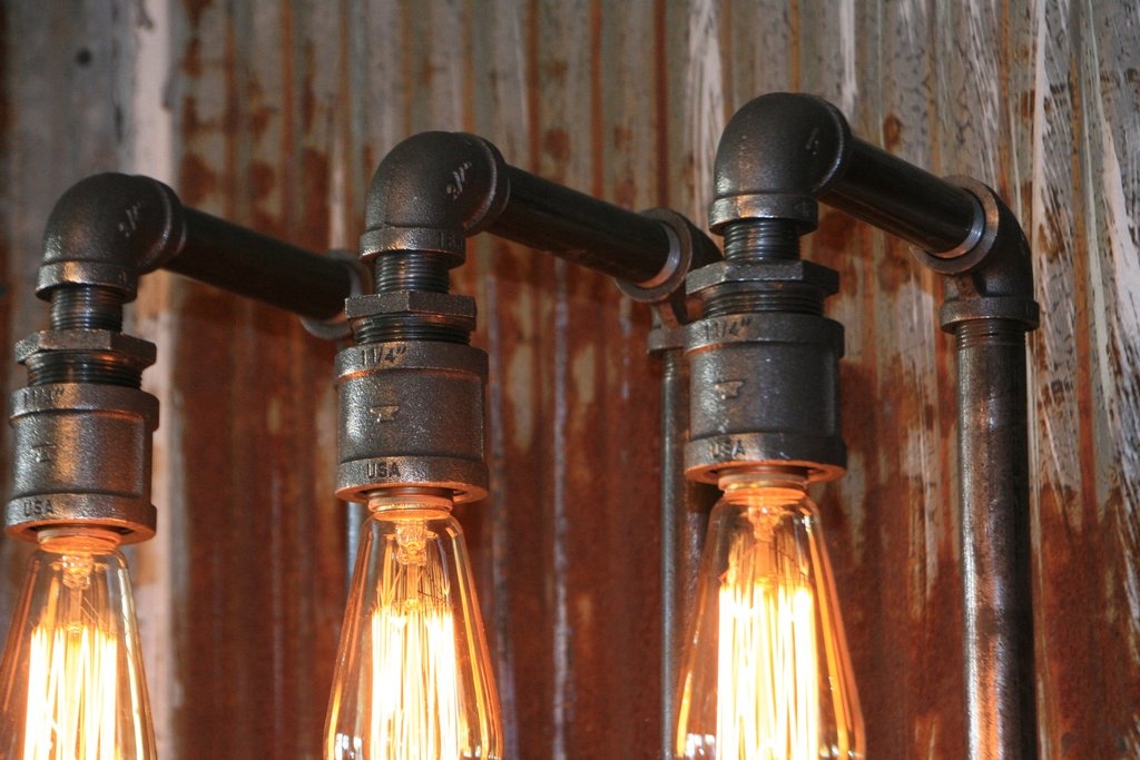Image of: Barn Sconce Diy