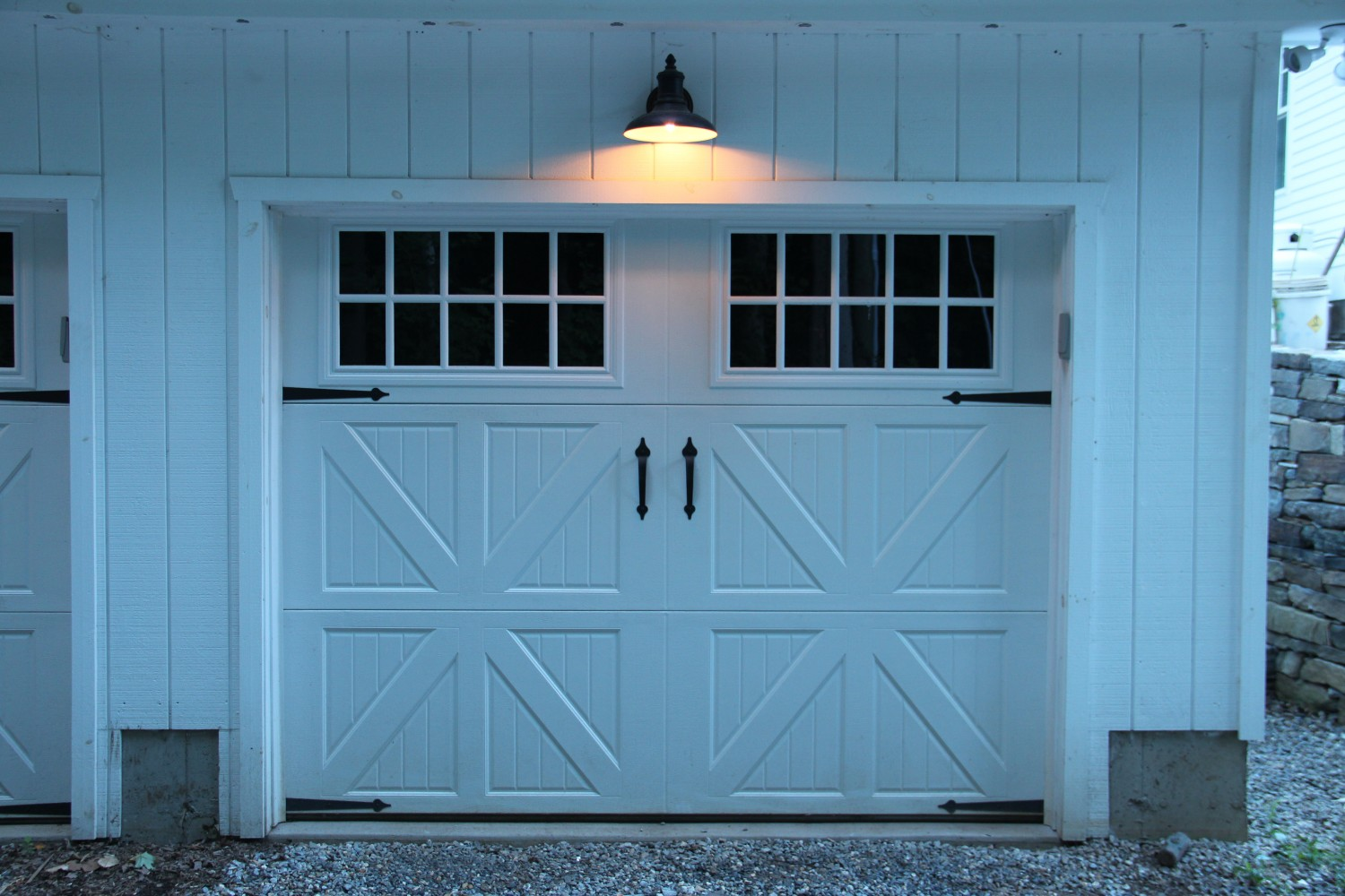 Image of: Barn Sconce Garage