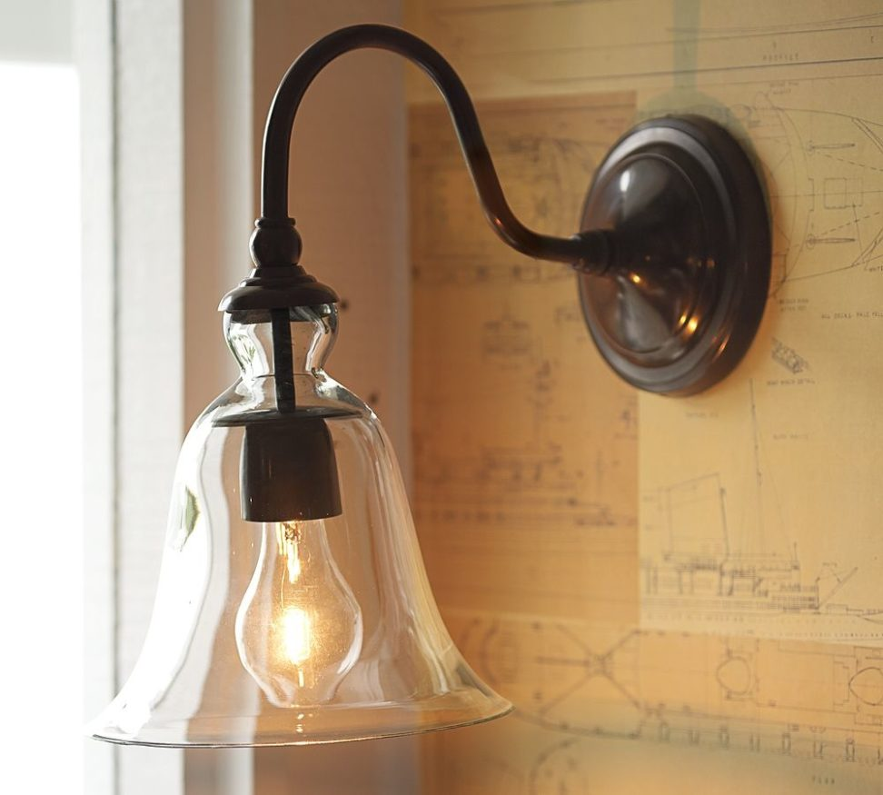 Image of: Barn Sconce Glass