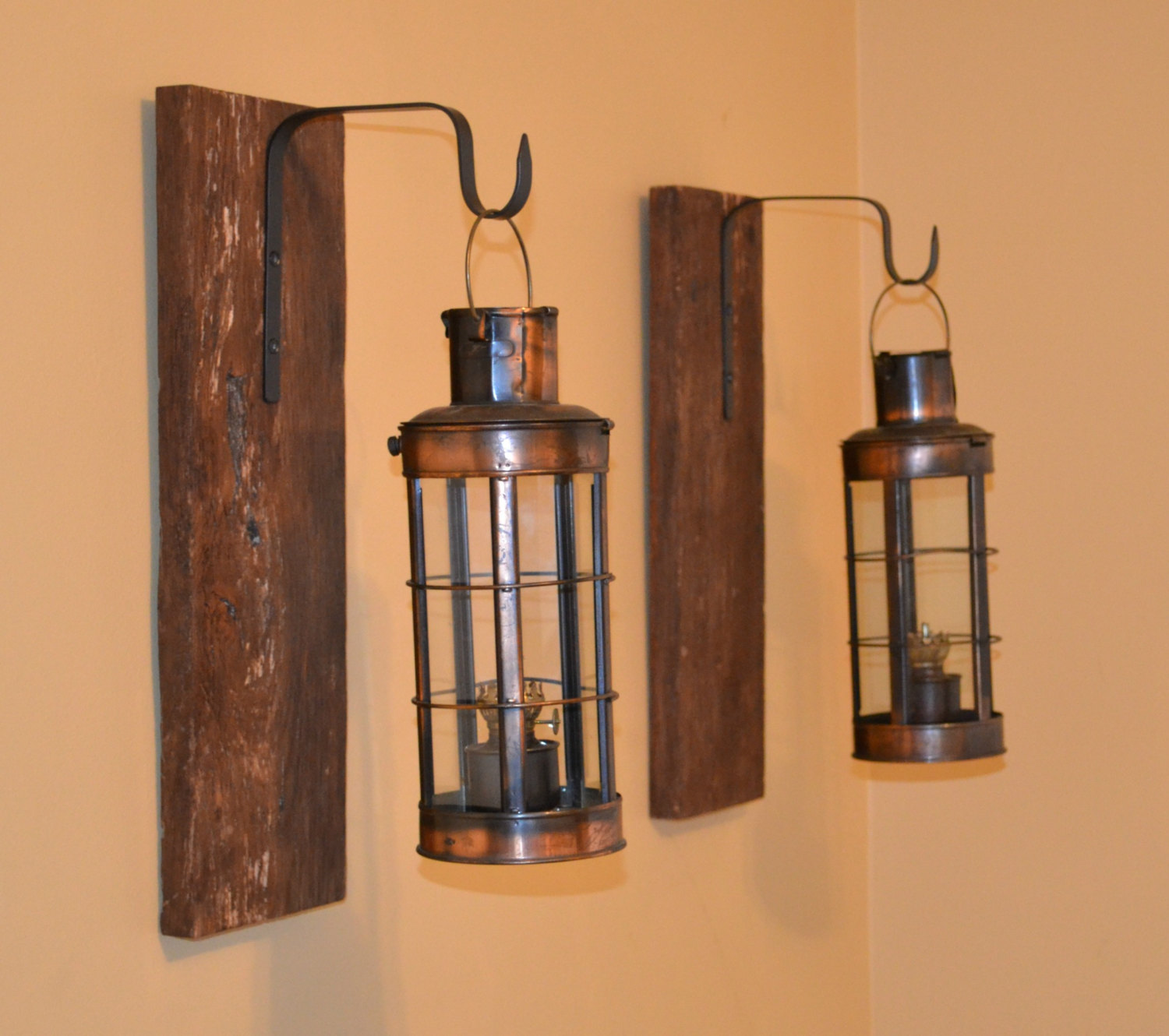 Image of: Bathroom Sconce Height Rustic