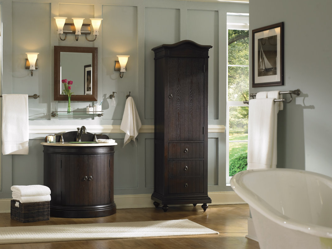 Image of: Bathroom Sconce Height Vanity