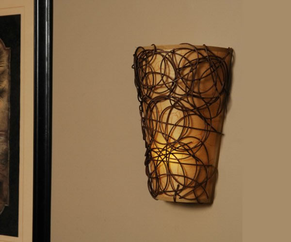 Image of: Battery Operated Sconce Lights with Timer