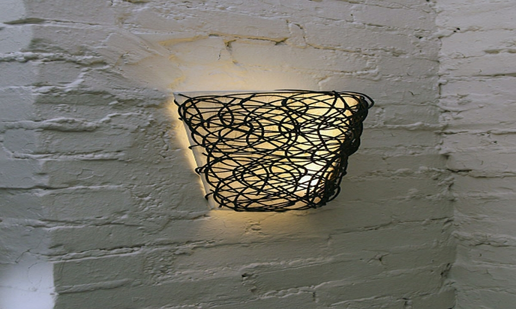Image of: Battery Operated Wall Sconce with Flameless Candle