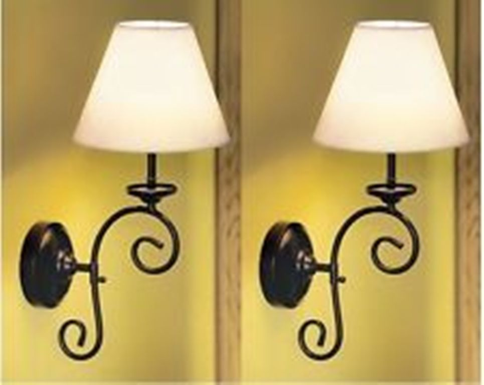 Image of: Battery Operated Wall Sconces with Remote Control