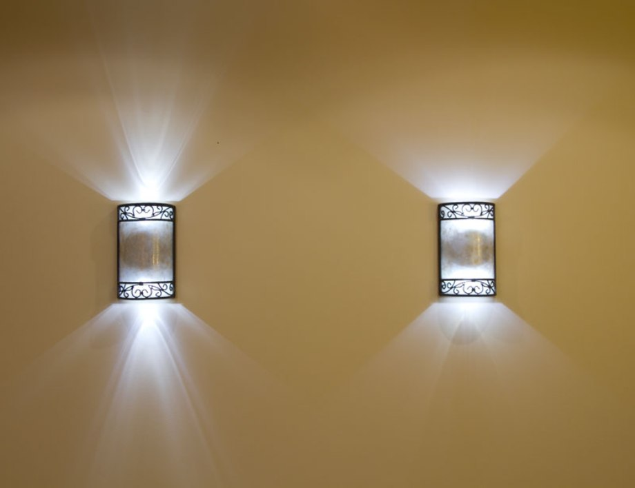 Image of: Battery Sconces White