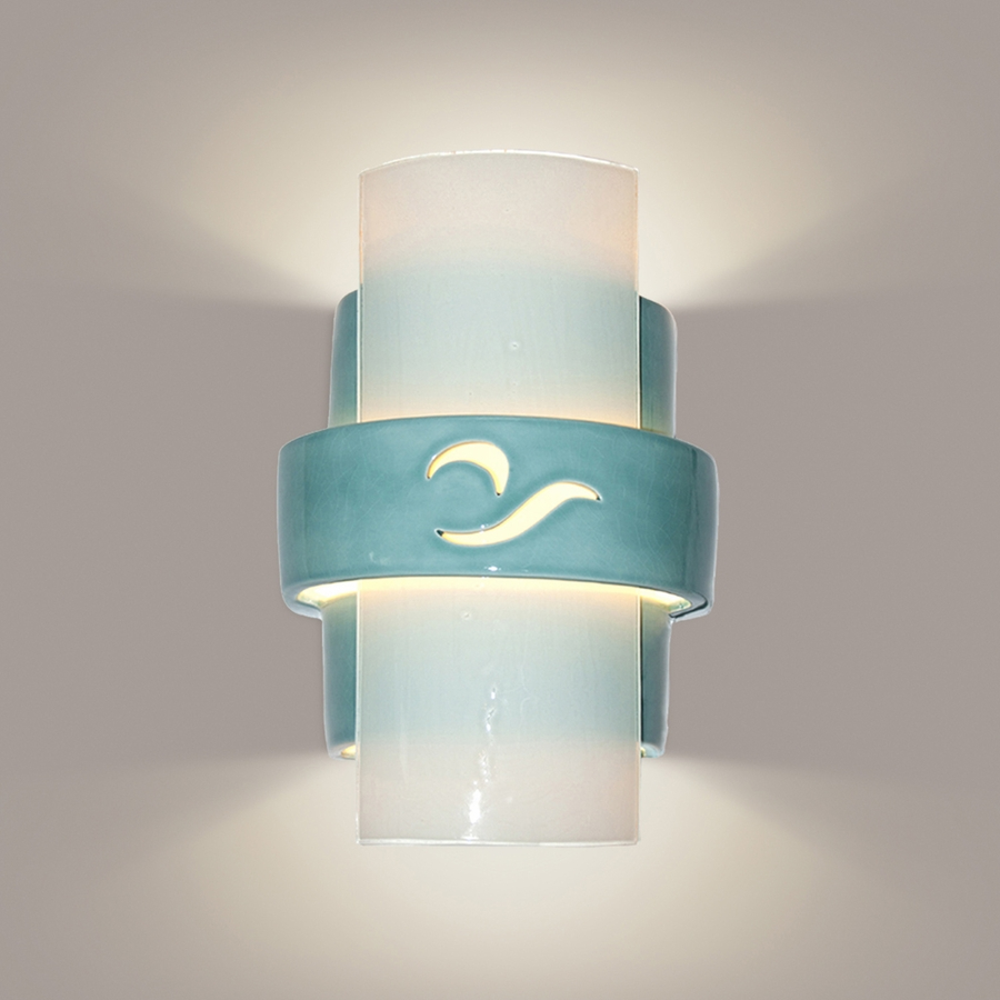 Image of: Beach Wall Sconces White