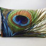 Beaded Peacock Pillow