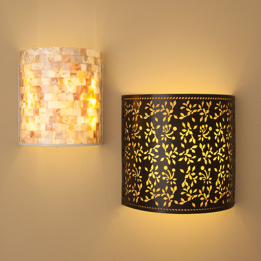 Image of: Beautiful Cordless Wall Sconce