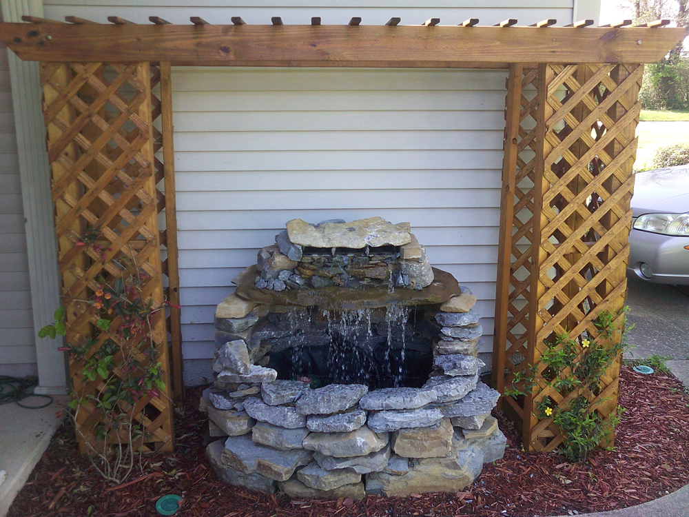 Image of: Best DIY Wall Fountain
