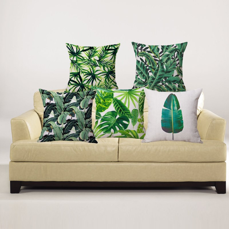 Image of: Best Leaf Throw Pillows