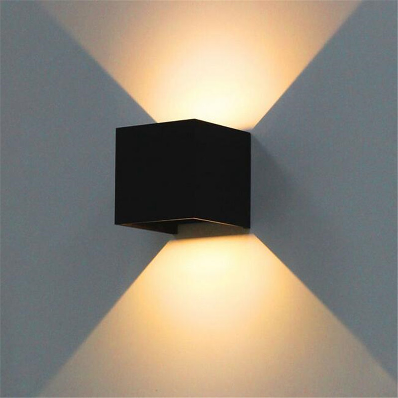 Black Led Outdoor Wall Sconce