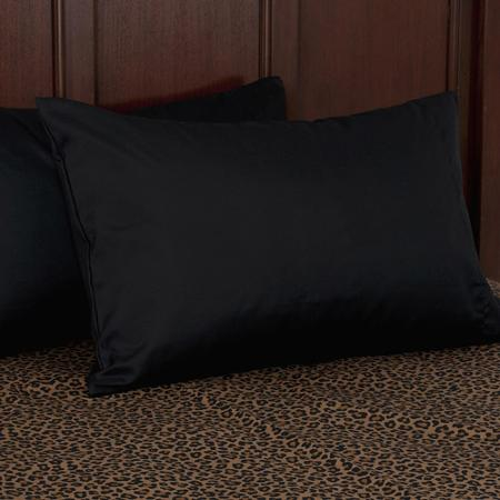 Image of: Black Microfiber Pillow Case