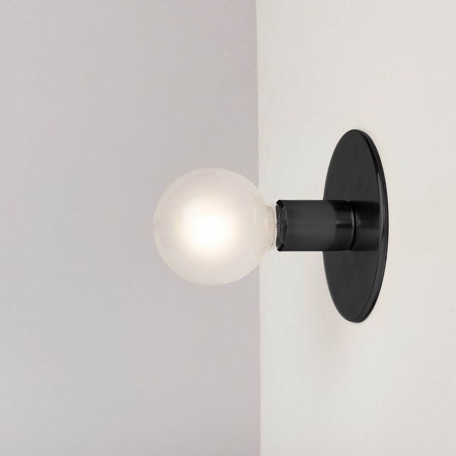 Image of: Black Sconce Lights Indoor