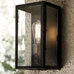 Black Sconce Lights Patio