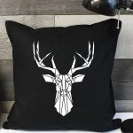 Black Stag Pillow