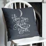 Black To The Moon And Back Pillow