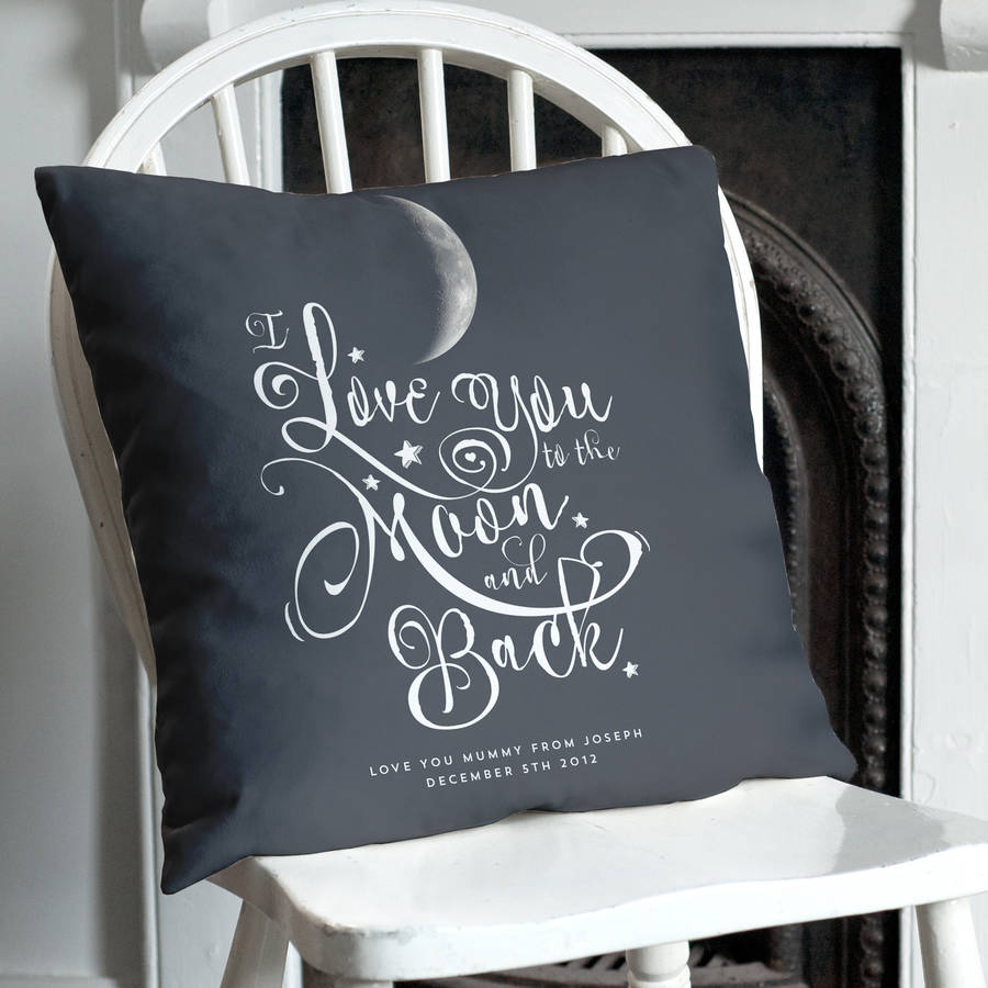 Image of: Black To The Moon And Back Pillow