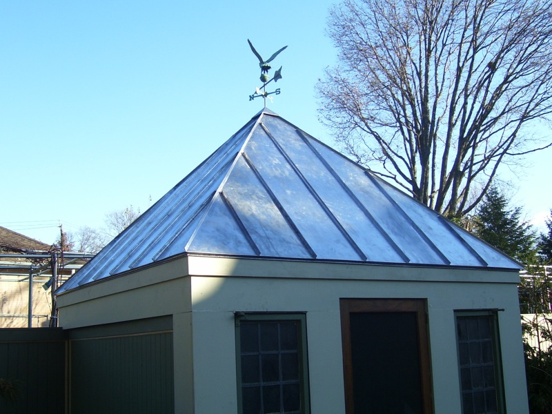 Blue Copper Standing Seam Roof