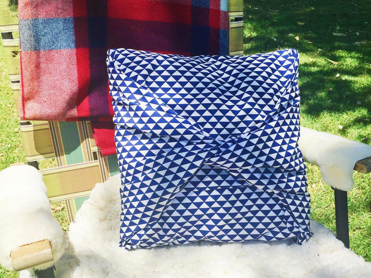 Blue No Sew Pillow Covers