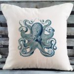 Blue Octopus Pillow