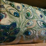 Blue Peacock Pillow