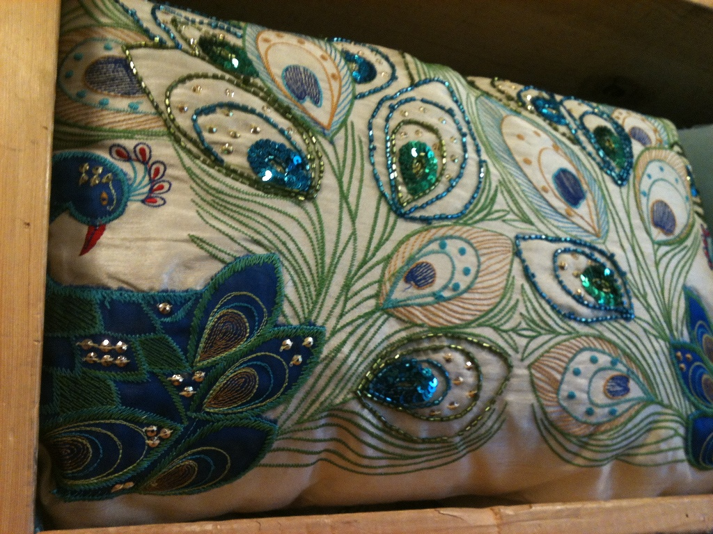 Image of: Blue Peacock Pillow