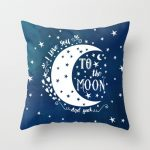 Blue To The Moon And Back Pillow