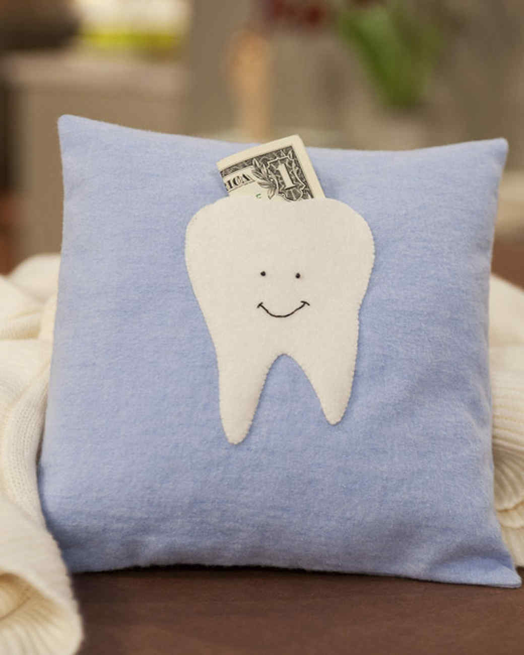 Image of: Blue Tooth Fairy Pillow