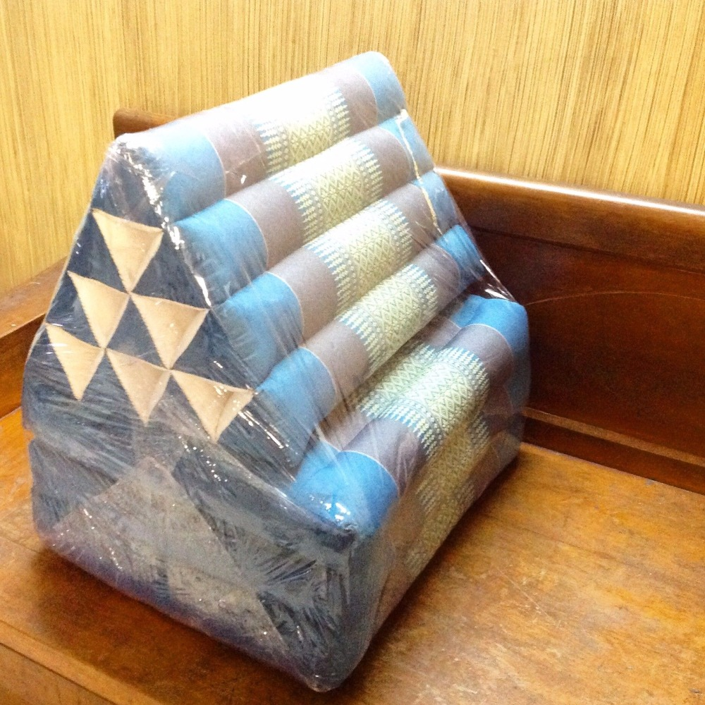 Image of: Blue Triangle Pillow