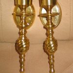 Brass Candle Sconces Holder Set