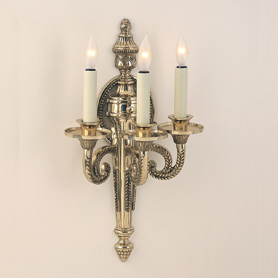 Image of: Brass Candle Sconces Traditional