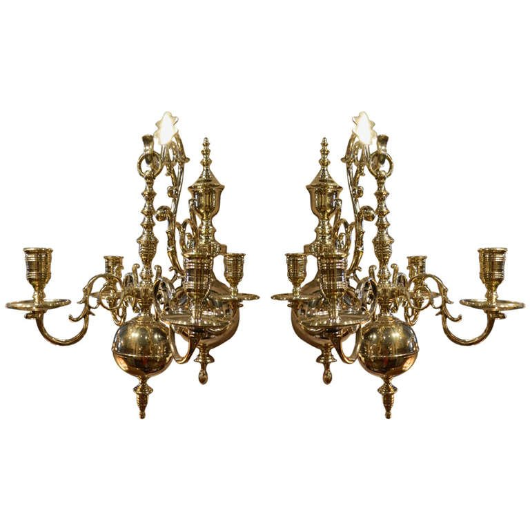 Image of: Brass Candle Sconces Vintage