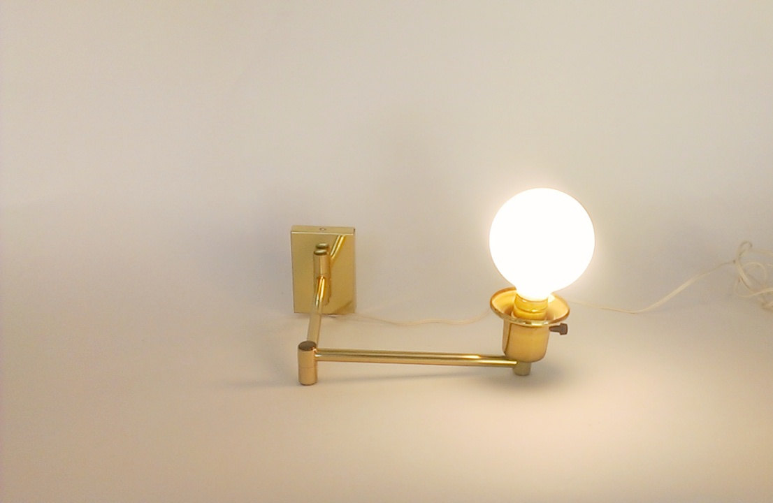 Image of: Brass Plug In Wall Sconce Antique