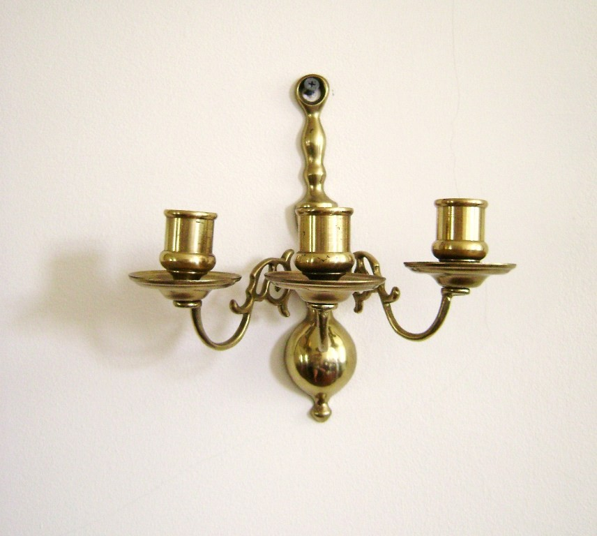 Image of: Brass Plug In Wall Sconce Classic