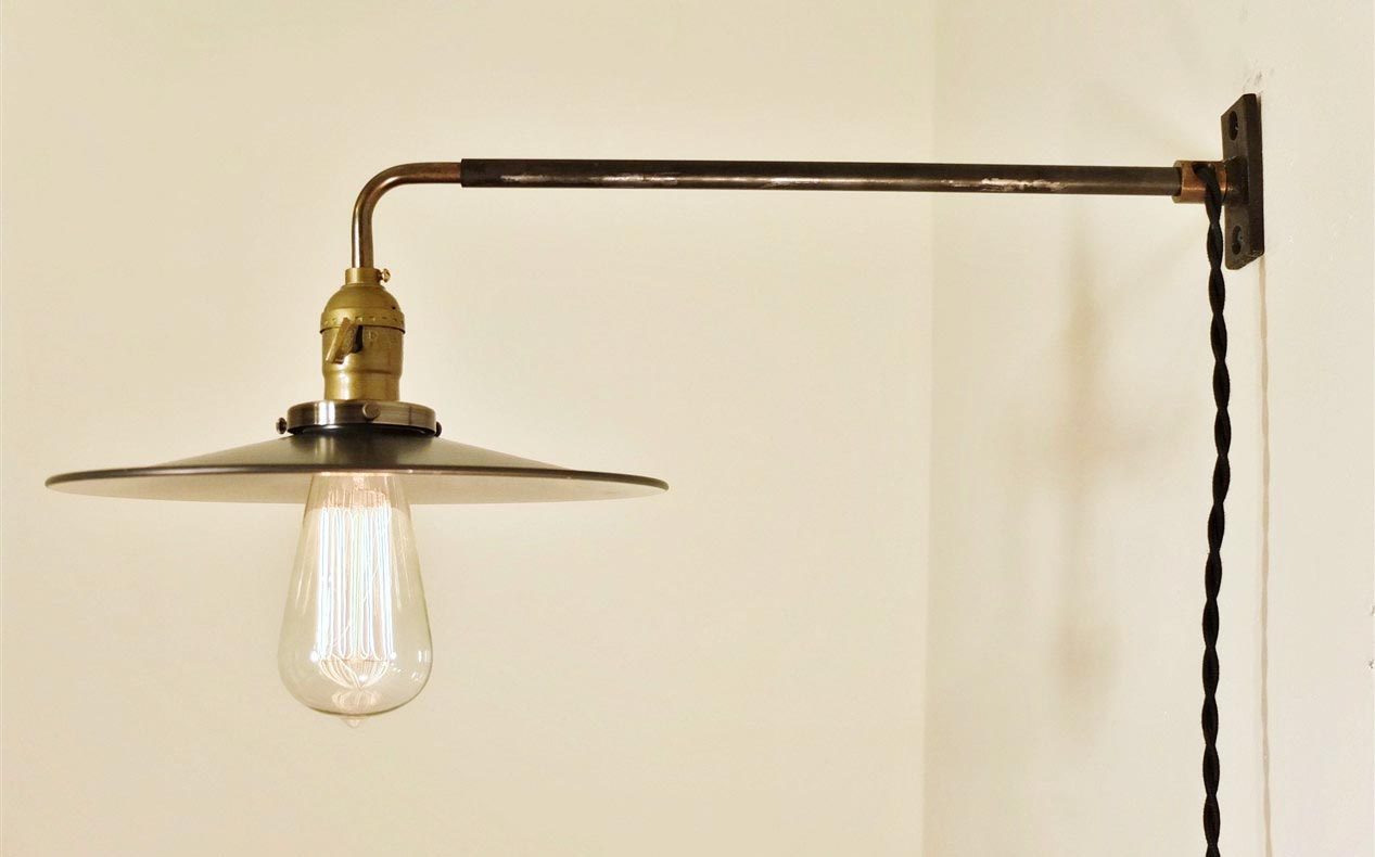 Image of: Brass Plug In Wall Sconce Fixtures