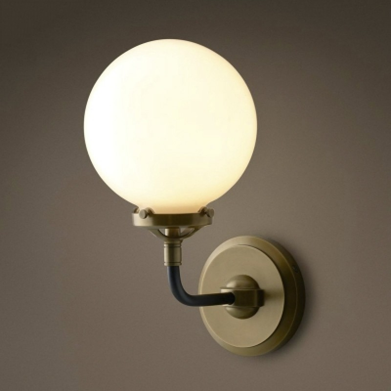 Image of: Brass Plug In Wall Sconce Globe