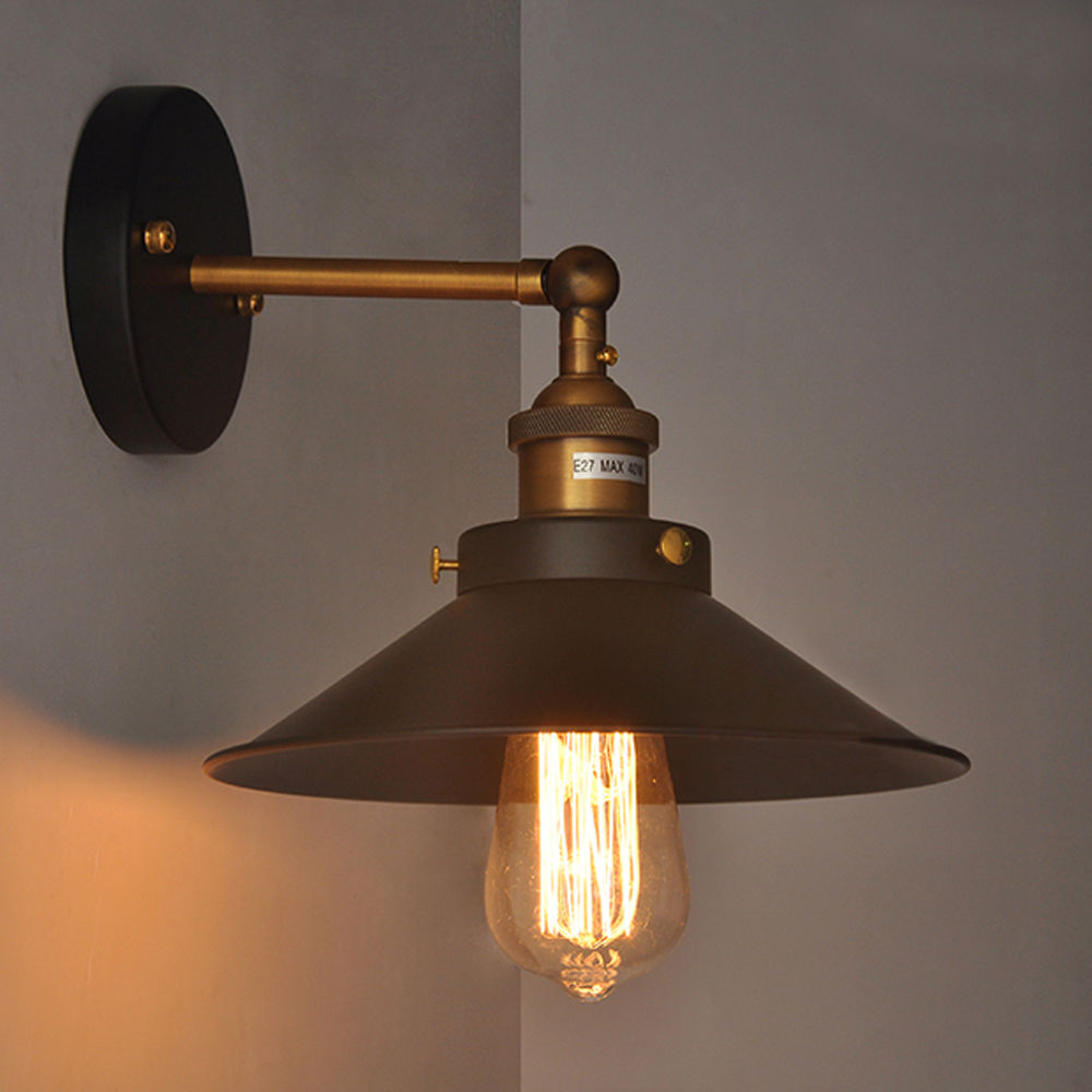 Image of: Brass Plug In Wall Sconce Metal