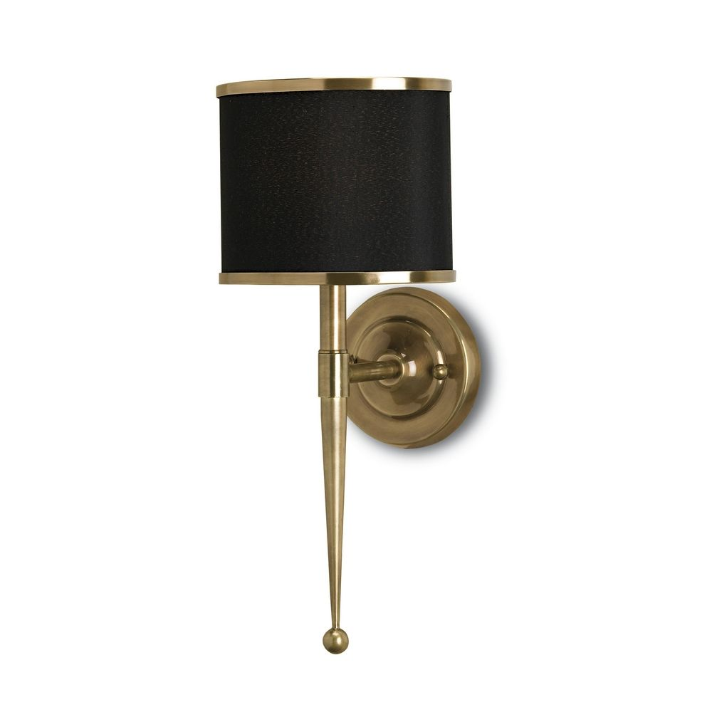 Image of: Brass Plug In Wall Sconce Shade