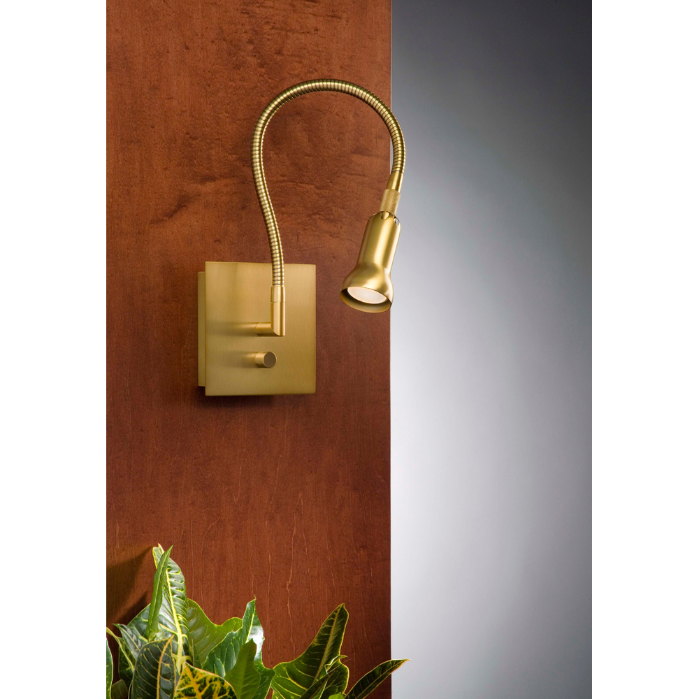 Image of: Brass Swing Arm Sconce Antique