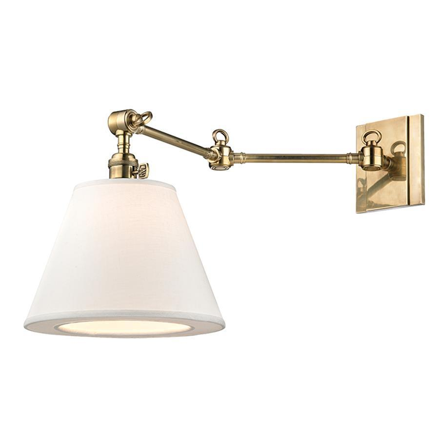 Image of: Brass Swing Arm Sconce Awesome