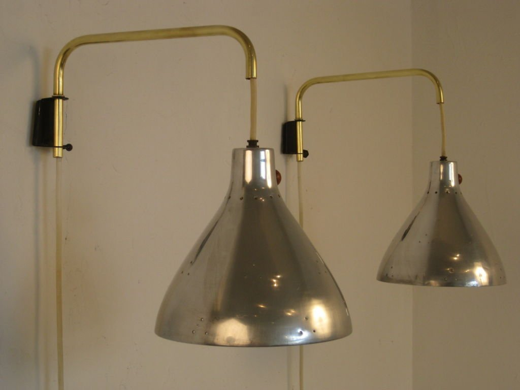 Image of: Brass Swing Arm Sconce Best