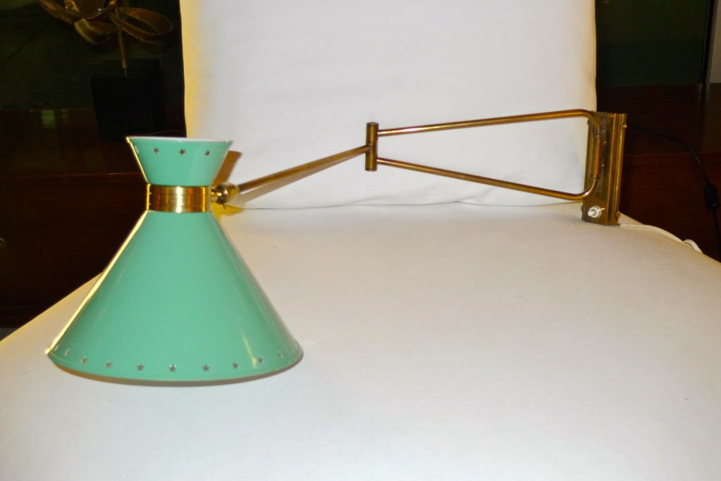 Image of: Brass Swing Arm Sconce Custom
