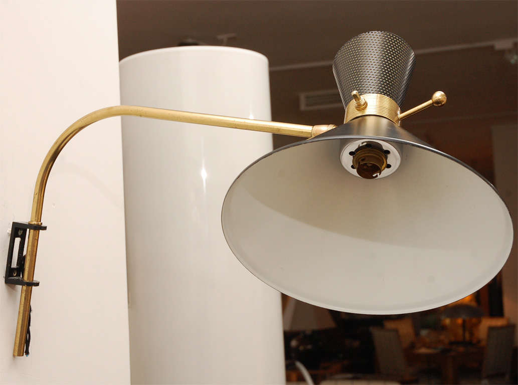 Image of: Brass Swing Arm Sconce Inspiration