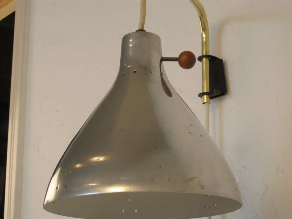 Image of: Brass Swing Arm Sconce Style