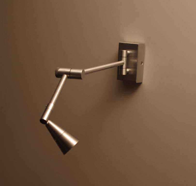 Image of: Brass Swing Arm Sconce Unique