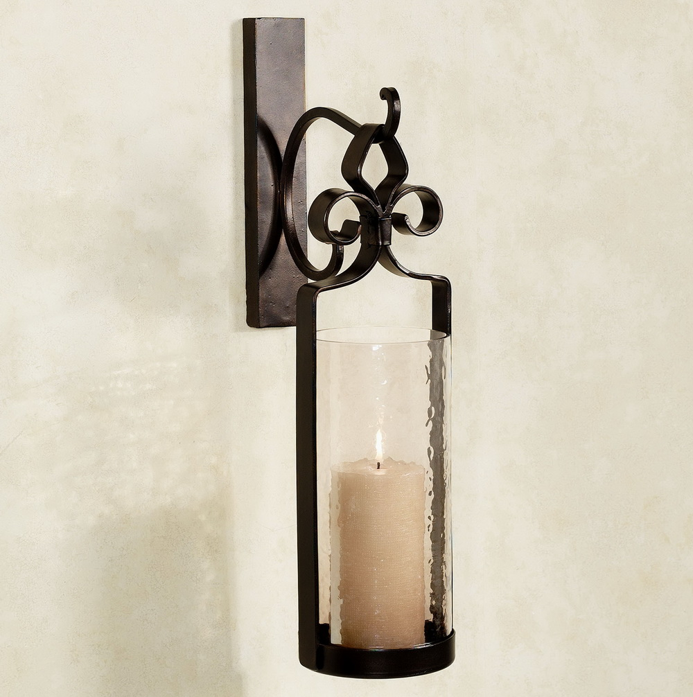 Image of: Contemporary Bronze  Candle Holder Sconces