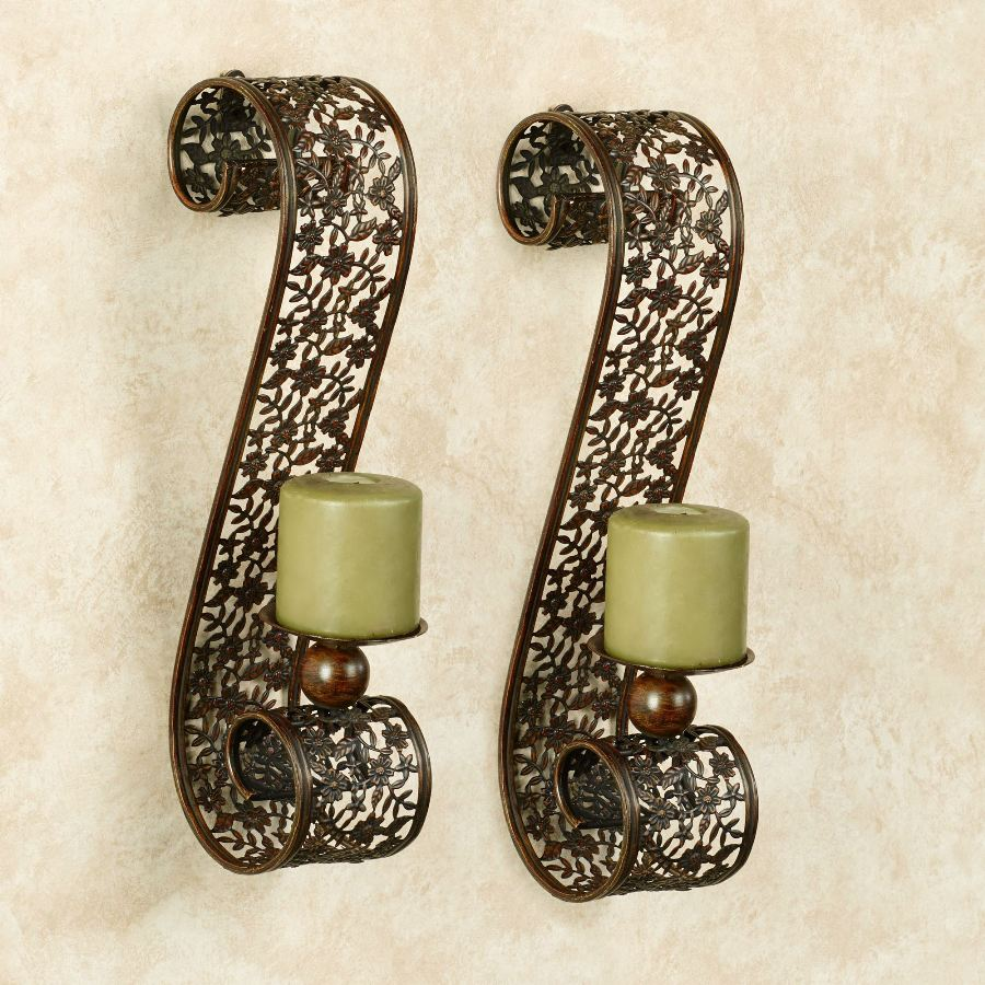 Image of: Bronze Candle Sconces Ideas