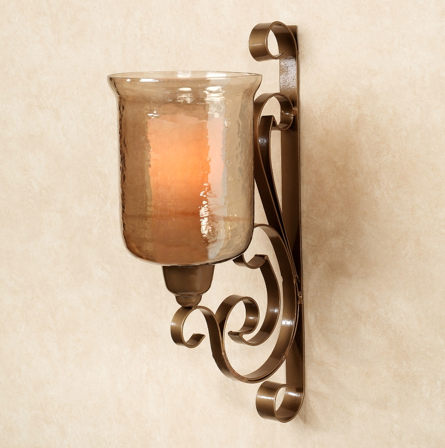 Image of: Bronze Candle Sconces Images